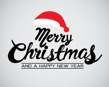 Happy Christmas kalligrafie voor banner, poster, wenskaart, party uitnodiging.