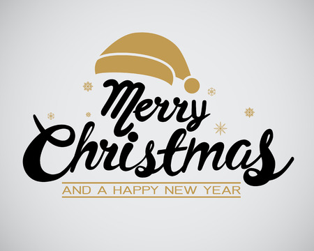 Happy Christmas kalligrafie voor banner, poster, wenskaart, party uitnodiging. Stockfoto - 68500069
