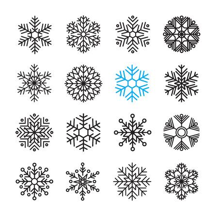sneeuwvlok icon set