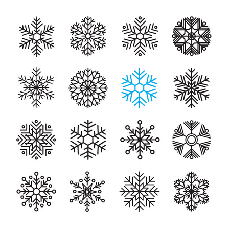 snowflake icon set 版權商用圖片 - 68809837
