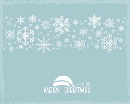 Vintage Christmas  with snowflake 向量圖像