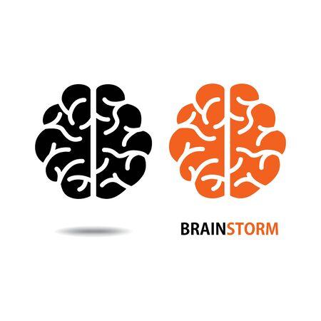 Brain icon vector on white background
