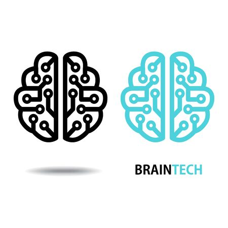 Design conceptual Brain,Vector Illustration on white background