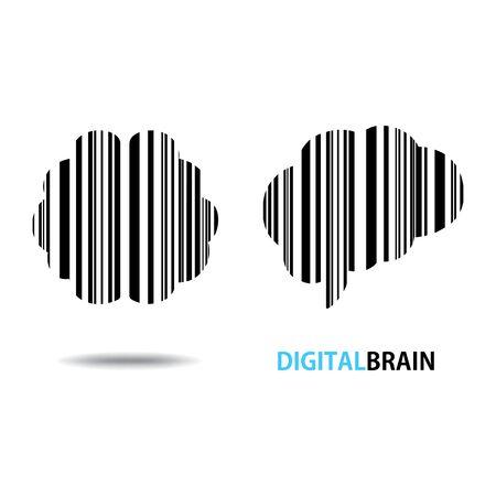 Design conceptual Brain, Vector Illustration on white background  イラスト・ベクター素材