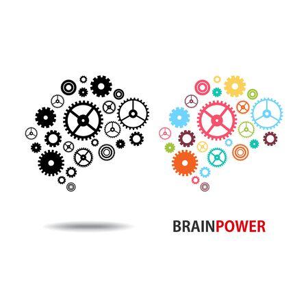 Design conceptual Brain, Vector Illustration on white background 向量圖像