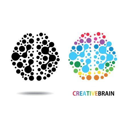 Design conceptual Brain, Vector Illustration on white background Illustration
