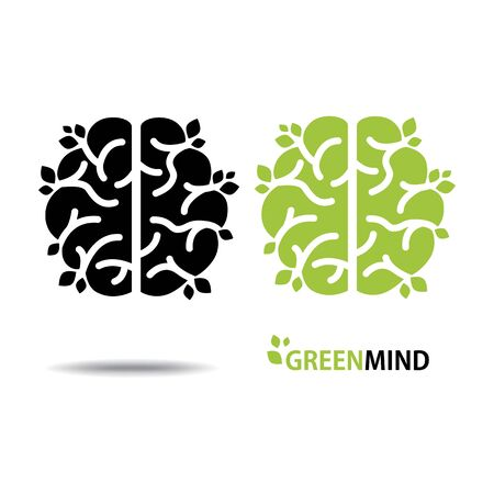 Design conceptual Brain, Vector Illustration on white background 矢量图像