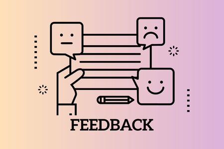 Banners Design Concept for Feedback, Vector