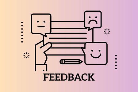 Banners Design Concept for Feedback, Vector