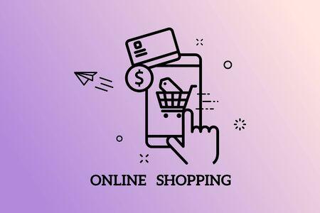 Banners Design Concept for Online Shopping,Vector Illustration
