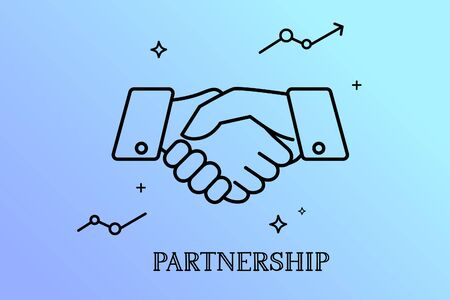 Business handshake, Contract agreement Partnership concept.  イラスト・ベクター素材
