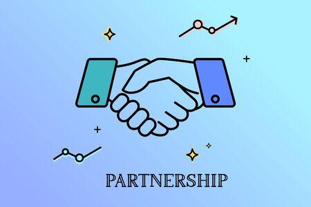 Business handshake, Contract agreement Partnership concept. Illustration