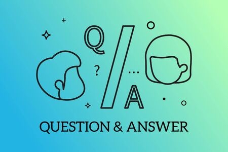 Banners Design Concept for Question and answer concept, Vector.