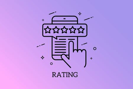 Banners Design of Rating Concept, Vector