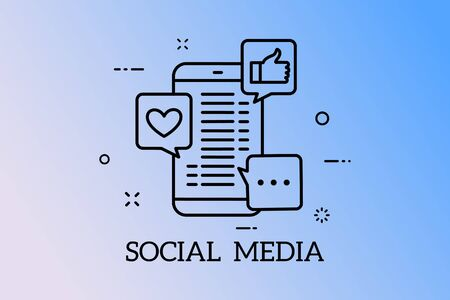 Banners Design Concept for Social Network and Social Media. Vector Social media concept.