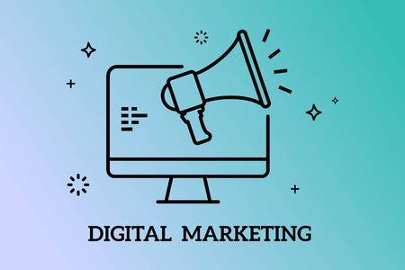 Banners Design Concept for  Digital Marketing, Vector 矢量图像