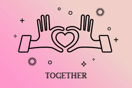 Hands in form of heart, hands together, Reletionship concept.