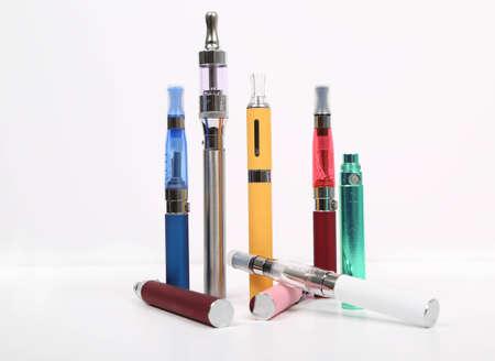 e cig: los cigarrillos electr�nicos Foto de archivo