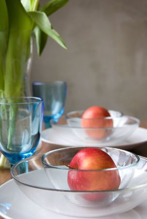 Festive Table Setting at a Home Stock Photo - 4439689