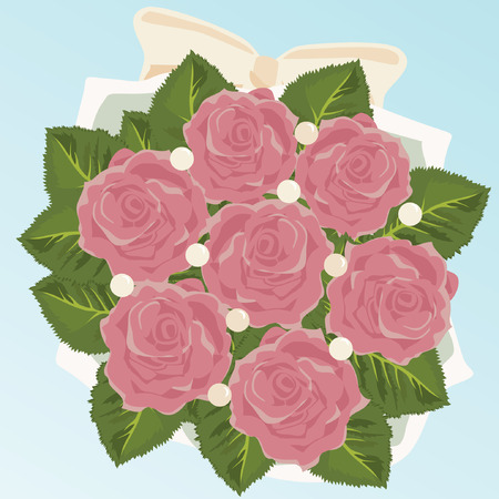 Bouquet of Bride Vector
