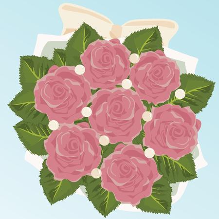 Bouquet of Bride Vector