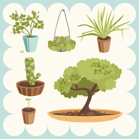 Illustration of Home Plants Stock Vector - 4719114