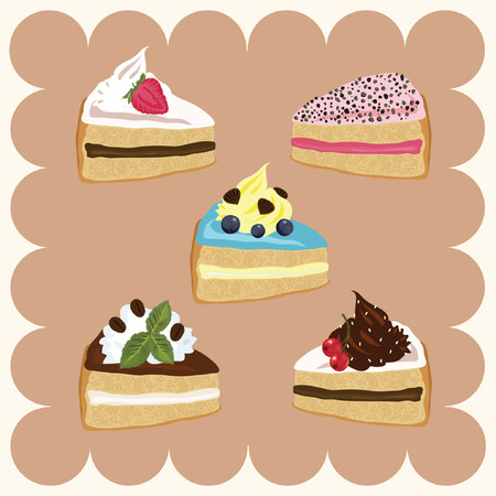 Pieces of Cakes Vector