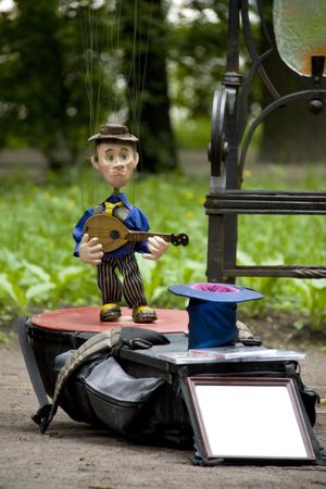 Puppet Musician in the Park Stock Photo - 5083616