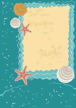 Sea Greeting Card Vector