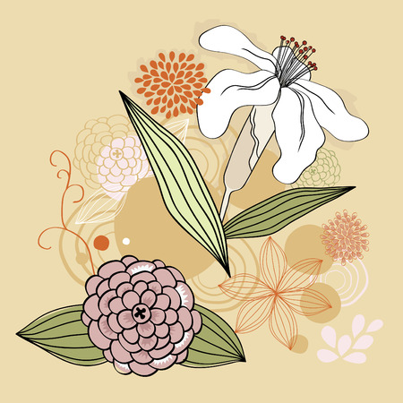 Vector illustration of many-colored flowers Stock Vector - 5921804