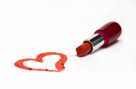 Heart shape made of lipstick Stock Photo - 6007141