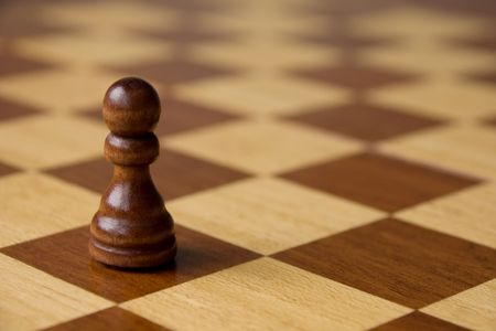 pawn: Black pawn on chess board