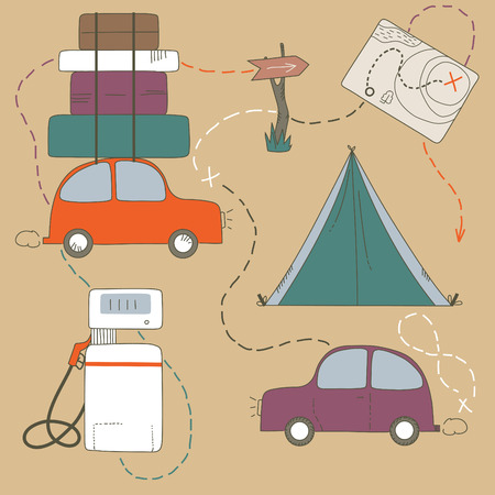 loaded: Set of travel objects