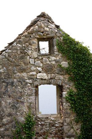 Old masonry - single wall photo