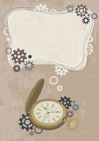time frame: Open pocket watch and frame