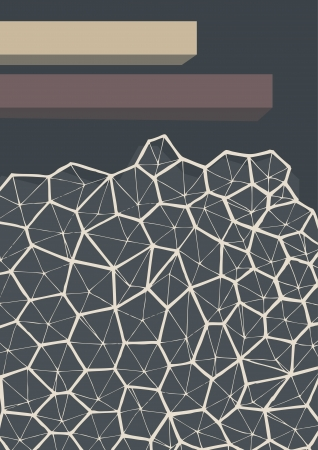 Gray abstract background with geometric pattern Vector