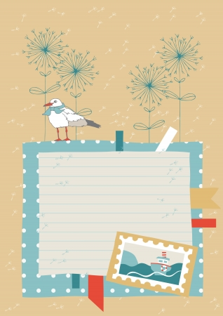 neckerchief: Illustration of empty page from diary Illustration