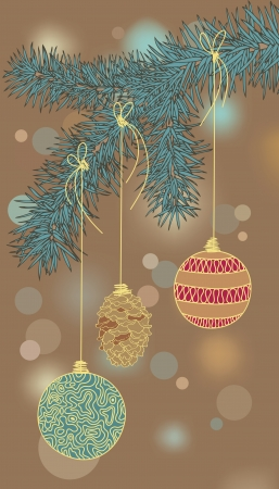 Illustration of Christmas-tree decorations Vector