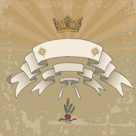 aureola: Heraldic flags and gold crown