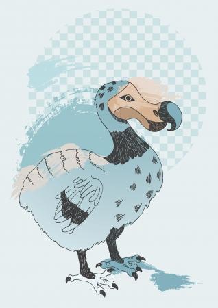 dodo: Illustration of blue Dodo Illustration