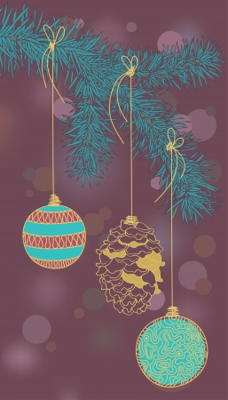 christmastree: Illustration of Christmas-tree decorations Illustration