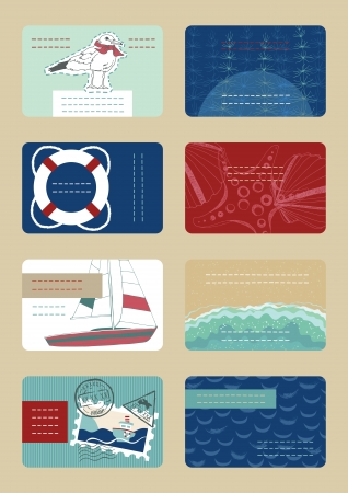 Set of horizontal colourful business cards  Vector