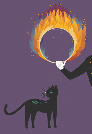 trained: Illustration about a cat who can t be trained