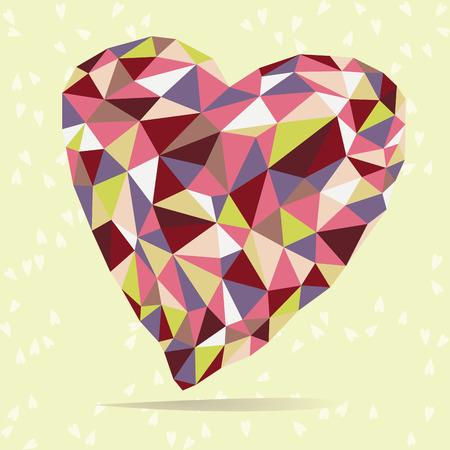 vermilion: Illustration of bright crystal heart