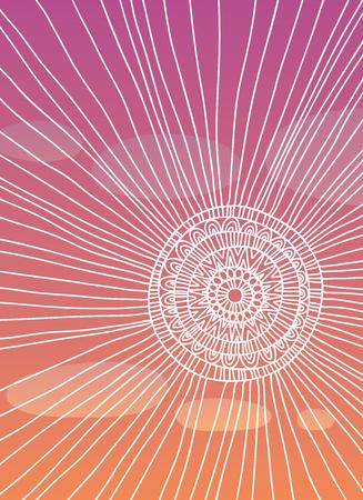 radiate: The sun in a purple sky Illustration