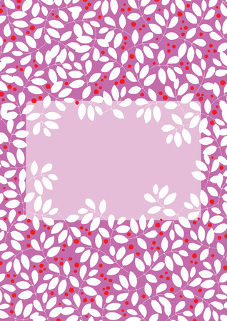 pink bushes: Decorative frame in the form of hole in the bush