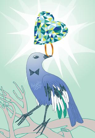 uprzejmości: Ptak o brylantowy pierścień
