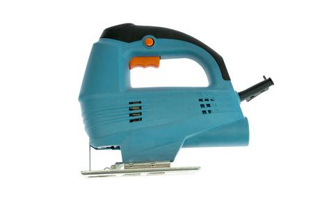 Blue fretsaw cutting tool Stock Photo