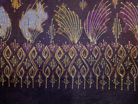 The pattern Thai style painting on fabric photo
