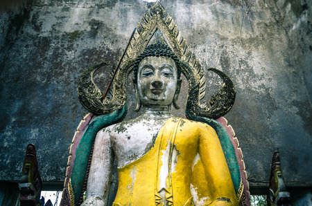 kanchanaburi: Buddha statue Sangklaburi Kanchanaburi Thailand